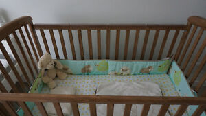 Wonderful crib and spring mattress in good condition
