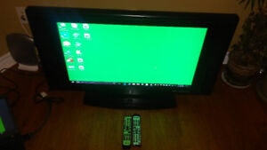 """32"""" LCD Monitor and TV widescreen + 2 Remotes Excellent working"""