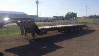 flat deck tridem equipment trailer