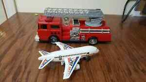 Toy Fire Truck & Airplane