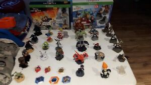 Disney Infinity 2.0 & 3.0 and figures.