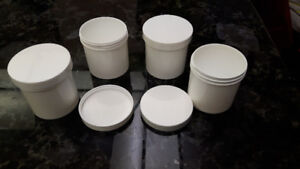 Plastic Jars containers Single Wall with wide mouth openings.