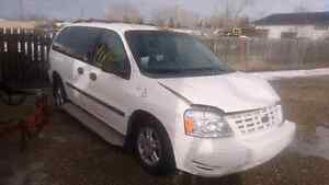 Wheelchair ramp equipped 2005 Ford Minivan, Van for parts