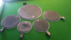 Roland drum trigger set and Remo muffle heads