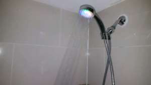Bathroom shower light and music light for bathroom