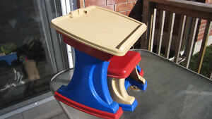 MULTIPLE TOYS EASELS, TRUCK, LAWNMOWER, WALKER, ACTIVITY TABLE