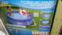 8 FT inflatable swimming pool with filter