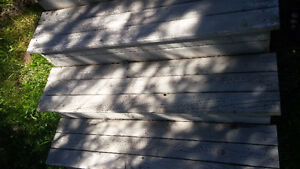 Pressure treated stairs for Deck.
