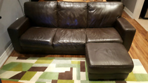 Genuine Leather Couch - Leon's Very Comfortable
