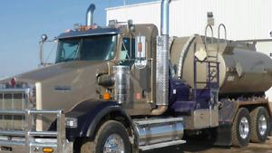 2009 kenworth T800 T/A Pressure Tank Truck