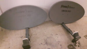 2 Shaw Direct Satellites and 2 HD receivers for sale - like new!