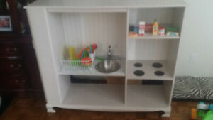 Child wooden play kitchen for sale!