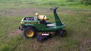 Lawn mowers for trade of livestock