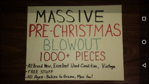 EARLY BOXING DAY BLOWOUT 1000 ITEMS NEW GENTLY USED VINTAGE-SAVE