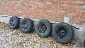 Set of 4 Winter Tires and Rims 5x114.3 Bolt pattern