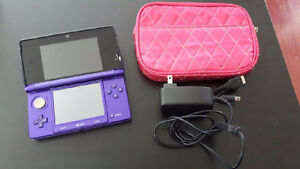 Purple nintendo 3ds and accessories