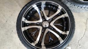 235 55 20 incubus rims and brand new tires