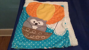 BAG OF BABY BOY CLOTHING 6-12 MONTHS AND BLANKETS