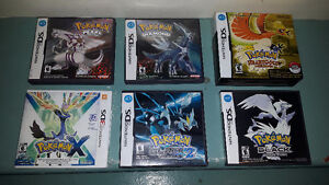 Pokemon DS and 3DS Games all CIB
