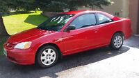 2002 Honda Civic LX Coupe (2 door) Certified eTest Winter Tires