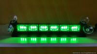 Green Volunteer Firefighter LED strobe warning dash light      W
