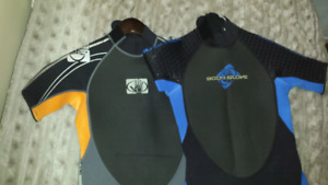 Approximately age 9 boys wetsuits $20 each