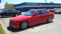Beautiful Red E36 lowered suspension