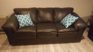 """""""Leather"""" Couch and Loveseat"""