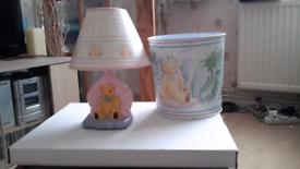 Matching Lamp & Bin Set
