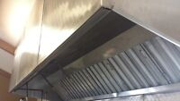 Commercial Exhaust Hood and Fire Suppression System