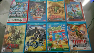 Collection of Wii U games.