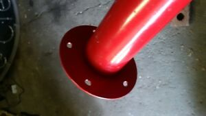 "5 27"" table legs steel red with plastic feet Oakville / Halton Region Toronto (GTA) image 2"
