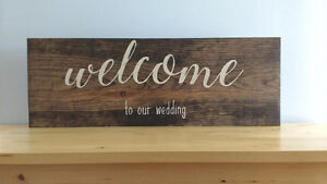 HAND PAINTED RUSTIC WOOD SIGNS Peterborough Peterborough Area image 1