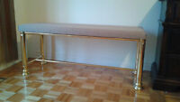 Brass sitting bench