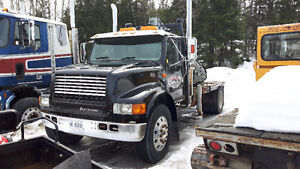 1997 International 3800 SA, hwy. tractor w/ Hiab crane
