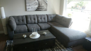 SOFA SECTIONNEL gris Charcoal