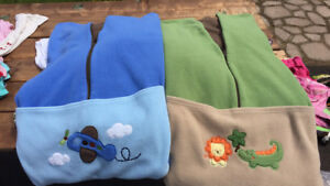 Stroller/sled fitted fleece blankets
