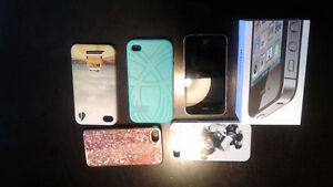 IPhone 4s 16gb with cases