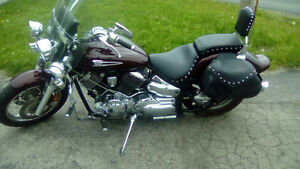 Burgundy & Silver colored Motorcycle for sale!!!