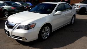 2009 Acura RL AWD White Fully Loaded Luxury Sedan