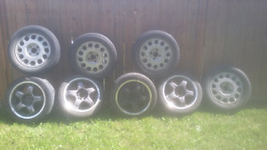 240 sx stock rims and 16x8  5 bolt multi work meister knock offs