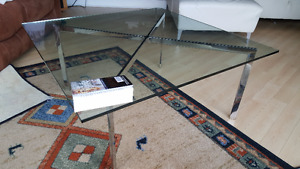 Solid Glass square table