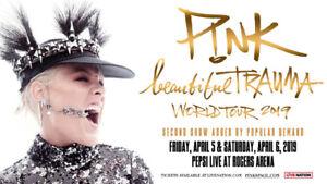 PINK Beautiful Trauma Tour Friday April 5th - ROW 6 GREAT SEATS!