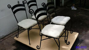 Four Wrought Iron Dining Chairs Peterborough Peterborough Area image 1