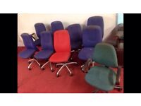 9 office chairs