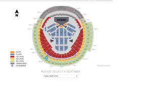 TAYLOR SWIFT 528L ROW 6 $450/PAIR ROGERS CENTER
