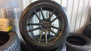 pneus et roues montés sur mags