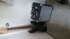 Bass Guitar with amp and tuner barely used