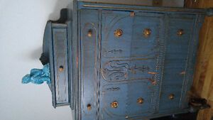 Commode antique 5 tiroirs