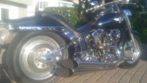 Harley fatboy 98 custom , one of a kind